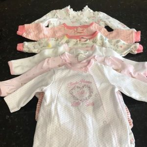 Other - 6 baby girl onesies